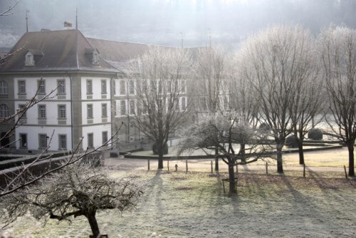 Abbey D'Hauterive, nr Freiburg. Home of a Benedictine order of 20 monks.